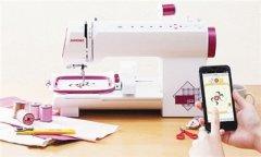 智能缝纫机用App完成刺绣
